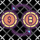 Exchange Bitcoin Conversion Bitcoin Icon