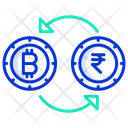Conversion Bitcoin Conversion Bitcoin Icon