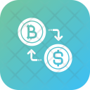 Bitcoin conversion Icon