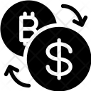 Convert Bitcoin Exchange Icon