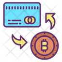 Conversion Exchange Bitcoin Conversion Exchange Card Icon