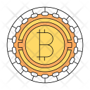 Bitcoin Cryptocurrency Technology Icon