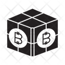 Bitcoin Cube Cube Blockchain Icon