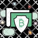 Secure Data Data Protection Bitcoin Data Icon