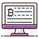 Bitcoin Data Online Bitcoin Digital Currency Icon