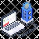 Bitcoin Data Display Icon