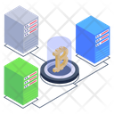 Bitcoin Data Servers Icon