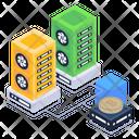 Bitcoin Data Storage Icon