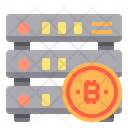 Database Money Bitcoin Cryptocurrency Bitcoin Database Database Icon