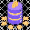 Bitcoin Database Blockchain Storage Bitcoin Storage Icon