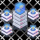 Blockchain Server Blockchain Storage Bitcoin Storage Icon