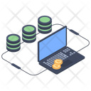 Bitcoin Database Bitcoin Server Cryptocurrency Server Icon