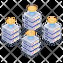 Blockchain Servers Blockchain Storage Bitcoin Storage Icon