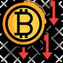 Bitcoin Decrease Bitcoin Decrease Icon