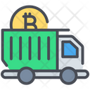 Bitcoin Delivery Transaction Icon