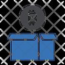 Bitcoin Delivery Bitcoin Shipping Icon