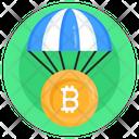 Bitcoin Airdrop Bitcoin Delivery Bitcoin Parachute Icon