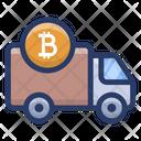 Bitcoin Delivery Van Icon
