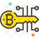 Bitcoin Digital Key Icon