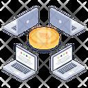 Blockchain Connection Bitcoin Distributed Network Bitcoin Network Icon