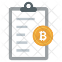 Bitcoin Document Bitcoin File Document Icon