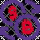 Bitcoin Dollar Exchange Icon