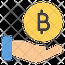 Bitcoin Donation Fundraising Charity Icon
