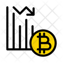 Graph Bitcoin Down Icon