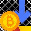 Bitcoin Down Value Bitcoin Down Icon