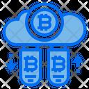Drive Cloud Bitcoin Icon