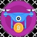 Drone Delivery Bitcoin Drone Delivery Bitcoin Drone Icon