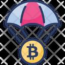 Bitcoin Drop Icon