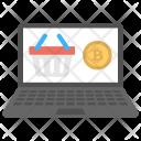 Bitcoin E-commerce Service Icon