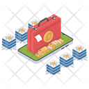 Bitcoin Earning Bitcoin Money Bitcoin Briefcase Icon