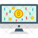 Bitcoin Earnings Electronic Money Online Bitcoin Payments Icon