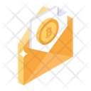 Bitcoin Email Cryptocurrency Mail Financial Mail Icon