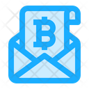Bitcoin Cryptocurrency Email Icon