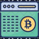 Bitcoin Encryption Digital Icon