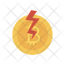 Bitcoin Cryptocurrency Power Icon
