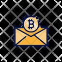 Bitcoin Envelope Icon