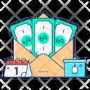 Bitcoin Envelope Bonus Income Icon