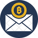 Bitcoin Envelope Bitcoin Mail Bitcoin Postage Icon