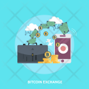 Bitcoin Exchange Finance Icon