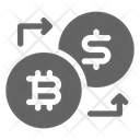 Bitcoin Exchange Dollar Icon