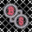 Bitcoin Money Transfer Icon