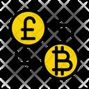 Exchange Bitcoin Pound Icon