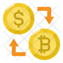 Exchang Dollar Bitcoin Icon