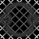 Bitcoin Exchange Money Icon
