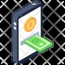 Bitcoin Exchange Banking App Mobile Banking Icon