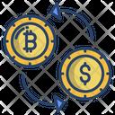 Bitcoin Exchange Transaction Dollar Cryptocurrency Exchange Icon